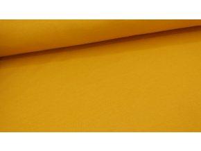 Bavlněný úplet (100% bavlna) - jednobarevná - medová