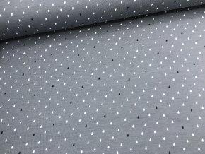 Úplet - dešťové  kapičky - šedá