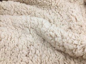 Beránek - 100% polyester - ecru přírodní (320 g/m2)