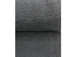 Beránek - 100% polyester - tmavě šedá (250 g/m2)
