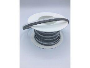 Reflexní paspulka - 10mm - stříbrná