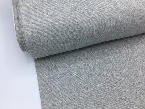 Náplet - žebrovaný - světle šedý melír
