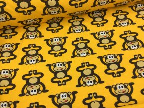 Úplet - opičky - žlutá