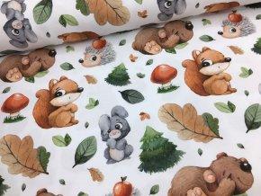 Bavlna - lesní zvířátka