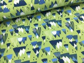 Teplákovina - hory kiwi - počesaná