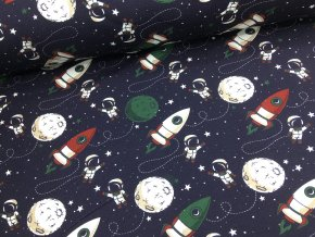 Úplet - kosmonauti - tmavě modrá