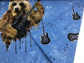 Úplet - panel - medvěd s kytarou