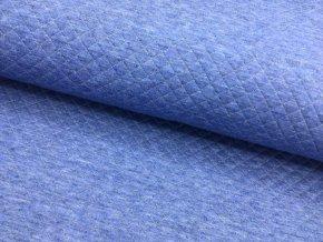 Teplákovina - jeansová - prošívaná