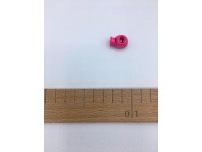 Plastová brzdička - délka 20mm - růžová