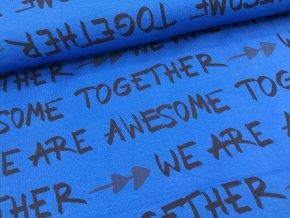 Úplet - nápisy - modrá