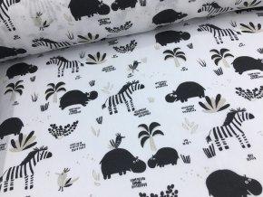 Bavlna - kolekce Afrika - zvířátka