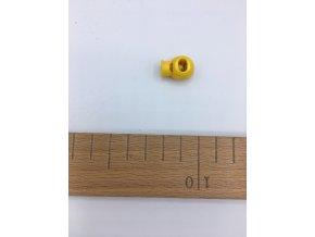 Plastová brzdička - délka 20mm - žlutá