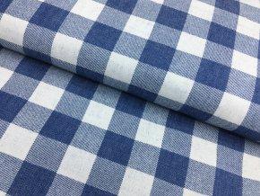 Bavlna - středně modrá - velké kostky