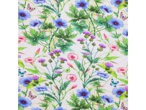 Viscose Jersey Digital flower garden 800x800