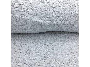Beránek - 100% polyester - světle šedá (250 g/m2) - doprodej 40cm