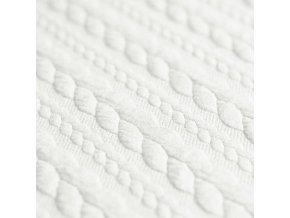 Cable Knit Jacquard Fabric Ecru 800x800