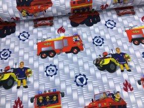 Úplet - požárník Sam - modrý - doprodej 78cm