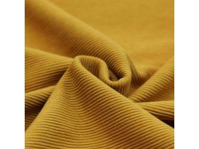 Ottoman Rib Jersey Fabric Ocher 1100x1100