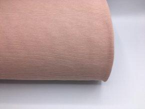 Úplet - žebrovaný - světle růžová
