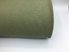 Úplet - žebrovaný - olivová