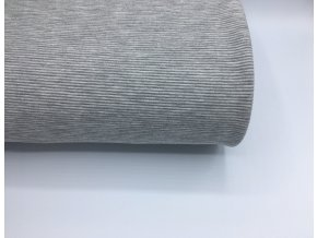 Úplet - žebrovaný - světle šedý melír
