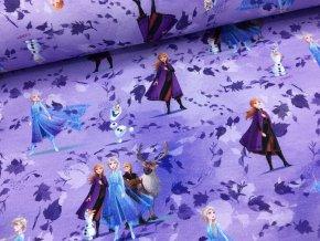 Teplákovina - Ledové království - fialová - doprodej 41cm