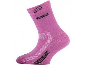 Dětské ponožky - trekingové - jednobarevná růžová