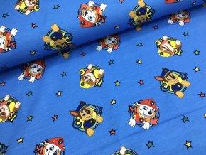 Úplet - tlapková patrola - modrá s hvězdičkami