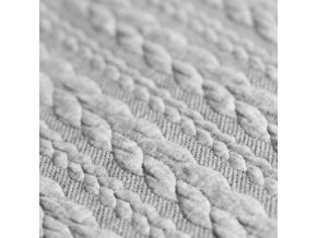 Cable Knit Jacquard Fabric Light Grey 800x800
