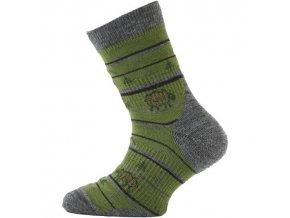 Dětské ponožky - trekingové - ovečky zelená
