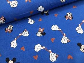 Úplet - Mickey Mouse - modrá se třpytkami