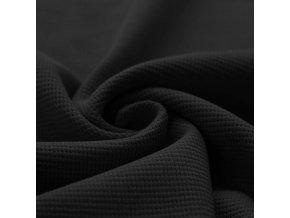 Waffelstrick Jersey Stoff Schwarz 1100x1100