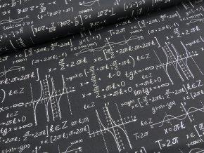 Bavlna - matematika - černá