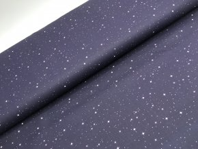 Bavlna - noční obloha - černá