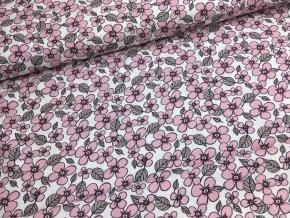 Bavlna - květiny - kolekce holčička