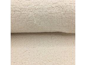 Beránek - 100% polyester - ecru přírodní (250 g/m2) - doprodej 91cm