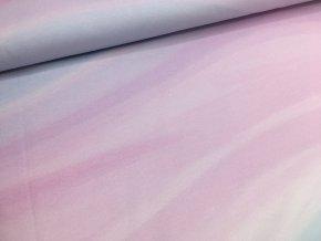 Úplet - vlny - růžovo/modré