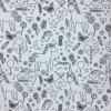 Bavlna - jednorožci - vymalovávací