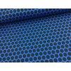 Teplákovina - puntíky - modrá