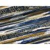 Teplákovina - abstraktní pruhy - modrá