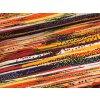 Teplákovina - abstraktní pruhy - oranžová