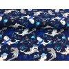 Úplet - žraloci - tmavě modrá