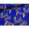 Úplet - papoušci - královsky modrá