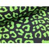 Zimní softshell - zelená stopa na černé