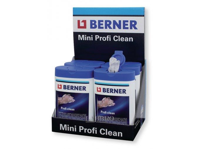 Berner vlhčené čistící ubrousky 15 ks PROFICLEAN