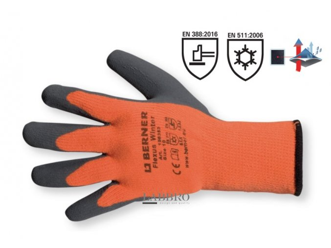 Berner ochranné zimní rukavice velikost 10