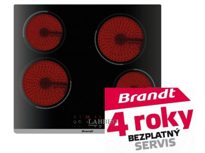 sklokeramická varná deska Brandt BPV6420B 2