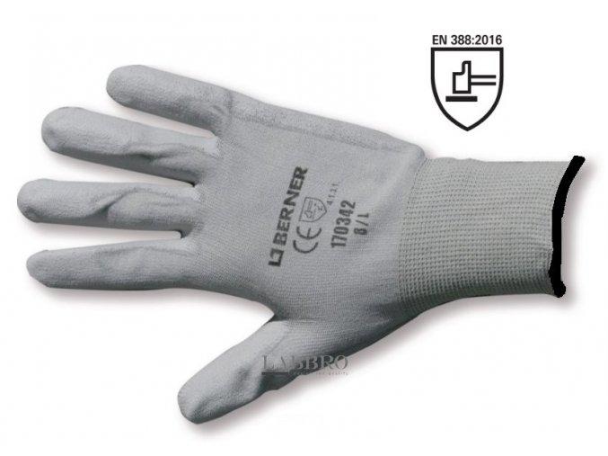 Berner pracovní rukavice velikost 10