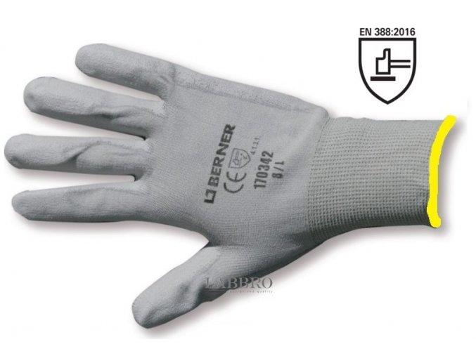 Berner pracovní rukavice velikost 8
