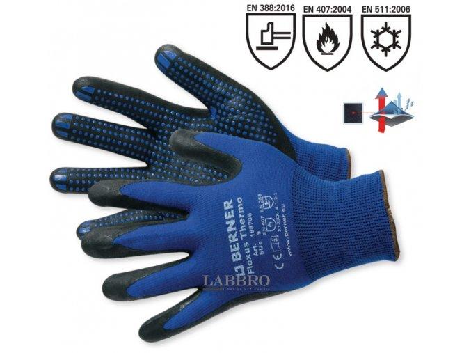 Berner termo pracovní rukavice 10